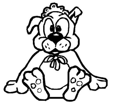 imagenes de animales bebes para dibujar dibujo de bebe perro para colorear dibujos net