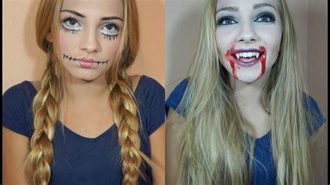 halloween costume ideas creepy doll vampire makeup