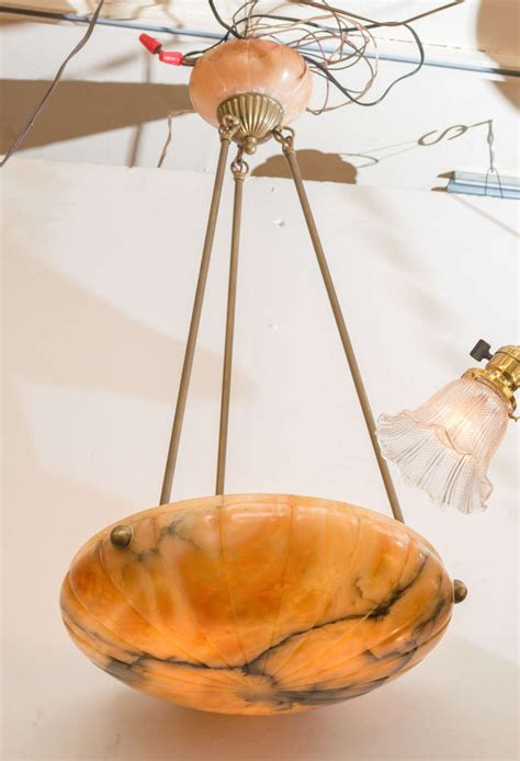 bowl chandelier alabaster pendant or bowl chandelier with deco design