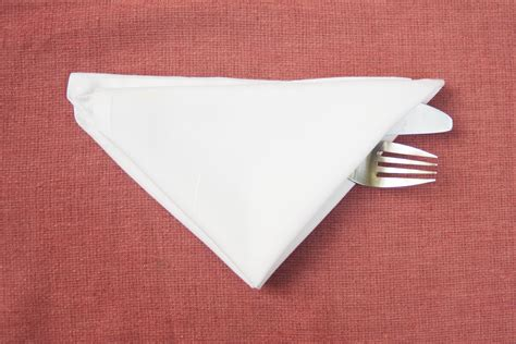 Folding Silverware Into Paper Napkins - how to fold cutlery into a napkin our everyday