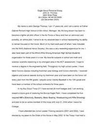 Eagle Scout Essay by Exle Eagle Scout Personal Essay Troop 27 Arbor Eagle Scouts