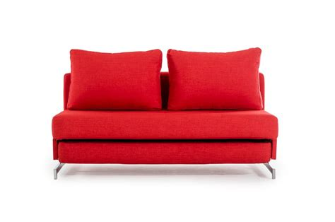 red fabric sofa bed contemporary red fabric sofa bed with chrome legs