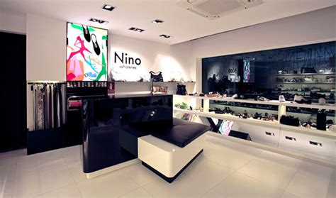 Shop Interior Lighting Chic New Shoe Store Design In Barcelona Commercial