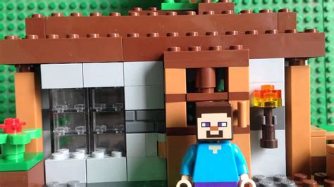 minecraft lego house lego minecraft steves house youtube