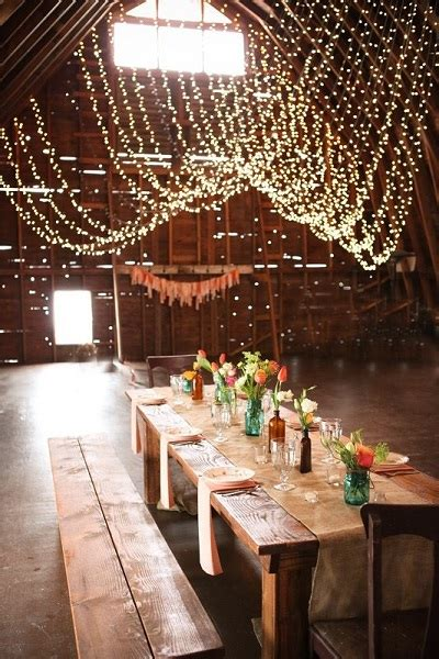 Hanging String Lights From Ceiling Hanging String Lights From Ceiling Another Great Use Of Bistro Lights To Light Up A Rustic Barn
