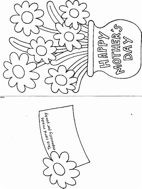 Greeting Card Print Template by Best 25 Mothers Day Coloring Pages Ideas On