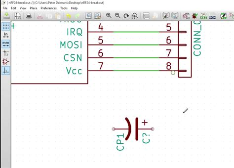 kicad capacitor symbol add a capacitor to the schematic using eeschema kicad like a pro