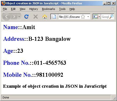 tutorial javascript object json in javascript