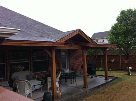 mini gable patio cover front yard ideas