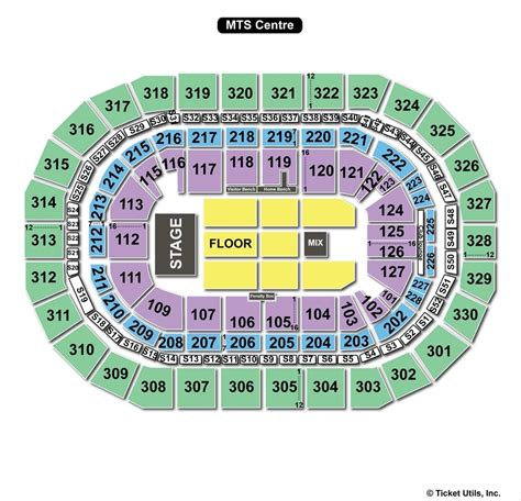 mts center seating capacity mts centre winnipeg mb seating chart view