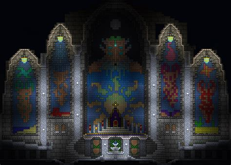 Terraria Rooms by Terraria Amazing Throne Room With Moon Lord And Pillars