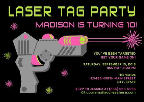 laser tag invitation template 4 beautiful laser tag birthday invitations free