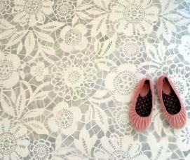 pretty painted floors with flower designs pretty vinyl flooring karen barlow