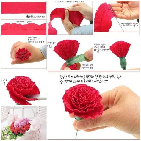 How To Make Carnations Out Of Tissue Paper - todo con papel flores con papel crep 233