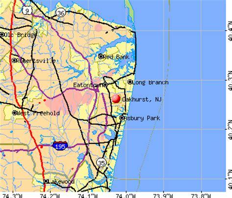 california new jersey map oakhurst new jersey nj 07755 profile population maps