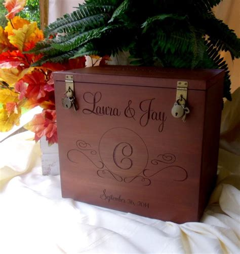Personalized Wedding Gift Card Box - wedding card box rustic wedding gift card box wedding box rustic card box