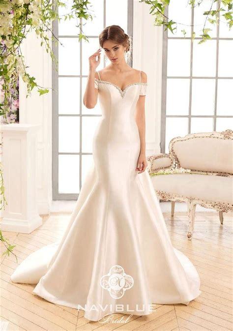 Dress Sabrina Import Dress Import Sabrina 2017 naviblue plus size mermaid wedding dresses beaded shoulder import 395 satin