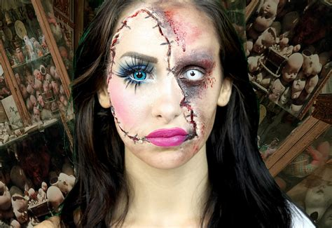 tutorial trucco zombie uomo dark horror monster gothic pov stare look model fetish
