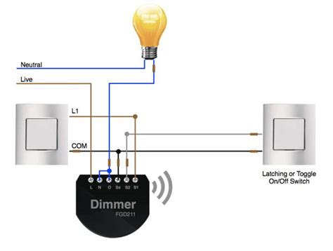 2 way wiring on with the fibaro dimmer