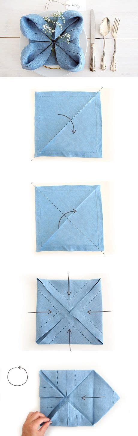 Origami Napkins - 25 best ideas about napkin origami on folding