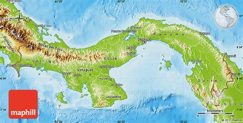physical map of panama panama bergen karte