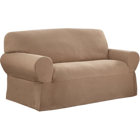 sofa loveseat and chair covers sure fit cotton duck sofa slipcover walmart