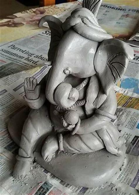 ganesh idol  home ganpati clay idol eco
