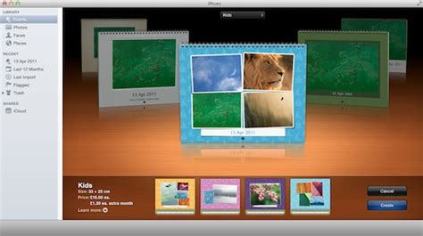 Iphoto Calendar Templates How To Create A Custom Calendar In Iphoto Aztec Online Iphoto Calendar Templates