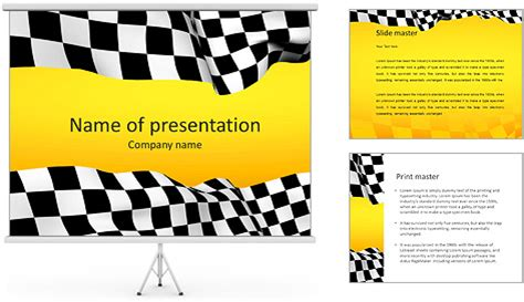 motorsport templates racing flag powerpoint template backgrounds id