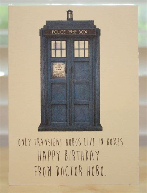 Dr Who Birthday Card Doctor Who Birthday Card Tardis Dr Who Geeky Party