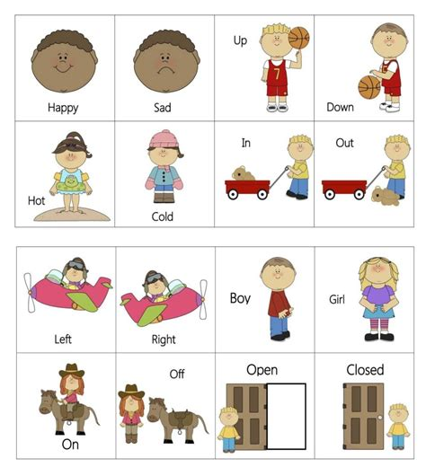 preschool printable language activities speech therapy worksheets for preschoolers and opposites