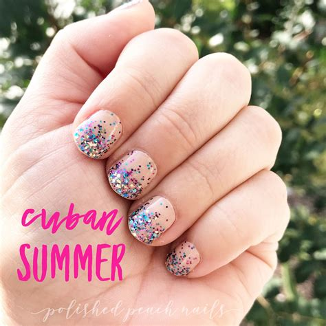 cuban colors cuban summer is one of color s new glitter dipped
