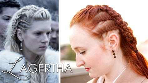 how to do your hair like vikings lagertha vikings hair tutorial lagertha as earl youtube