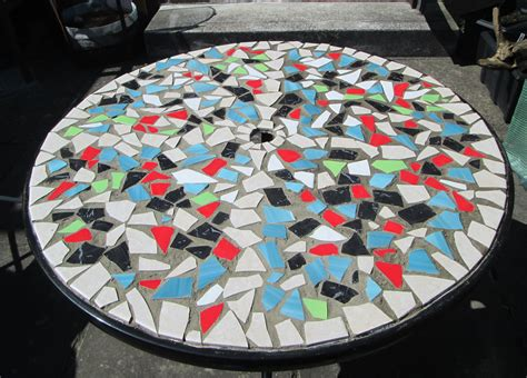 how to make a glass mosaic table top how to design mosaic table top with ceramic tiles