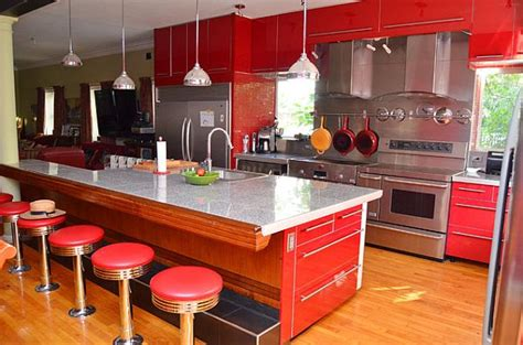 red kitchen furniture modern kitchen with red cabinets decoist