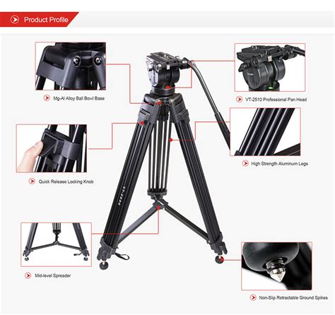 Tripod Kingjue Kingjoy Vt 1000 Black Light Kit kingjoy vt 2500 vt 2510 professional tripod kit kingjoy photographic equipment