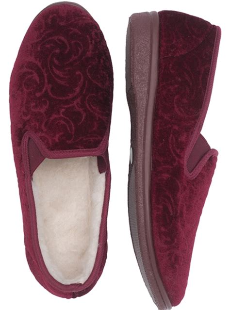 damart slippers paisley velour slippers damart