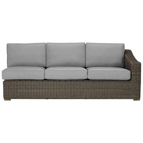 large gray sectional city furniture canyon3 gray large two arm sectional