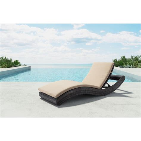 beach chaise zuo pamelon beach aluminum outdoor chaise lounge with