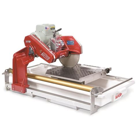 bench tile saw shop mk diamond products 10 in 1 5 hp wet sliding table tile saw at lowes com
