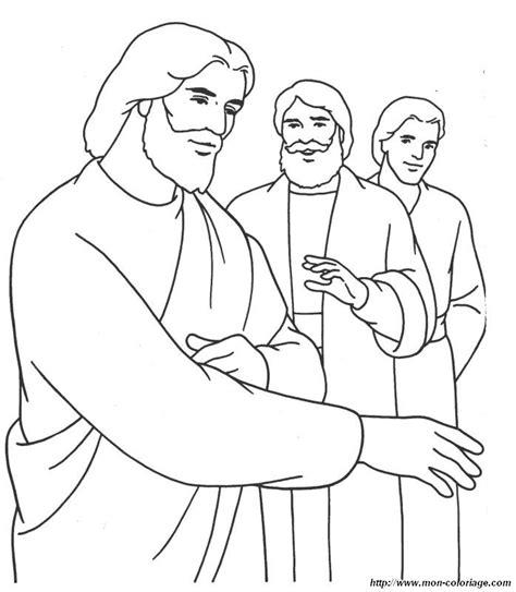 coloring page of jesus on the road to emmaus coloriage de bible dessin jesus et apotres 224 colorier