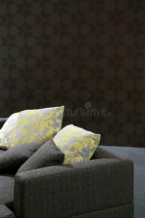 yellow pillows for sofa sofa with yellow pillows stock photo image 20876200