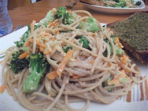 Would You Eat This Tahini Pasta by Wholewheat Pasta With Broccoli Florets Enriched With A