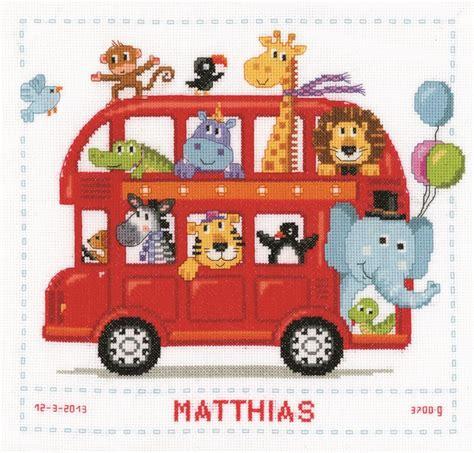 noah mills birth chart safari bus birth record cross stitch vervaco pn 0147691