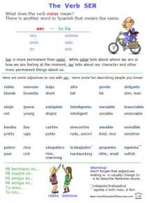 free ser estar and adjectives worksheets printable