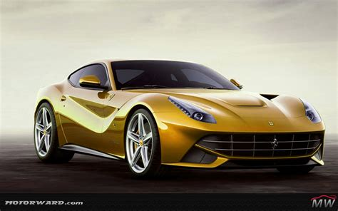 golden ferrari ferrari f12 renderings by motorward com motorward