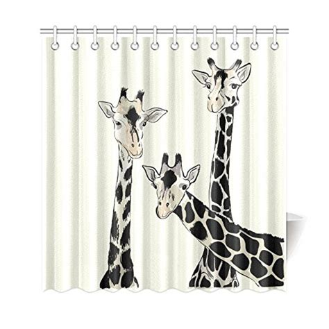 humorous shower curtains best giraffe shower curtain designs funny adorable