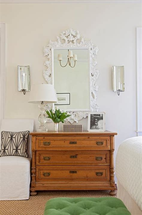 white mirror above dresser white baroque mirror with currey and co twilight wall