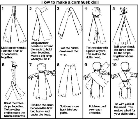 how to make a corn husk doll step by step oneida crafts