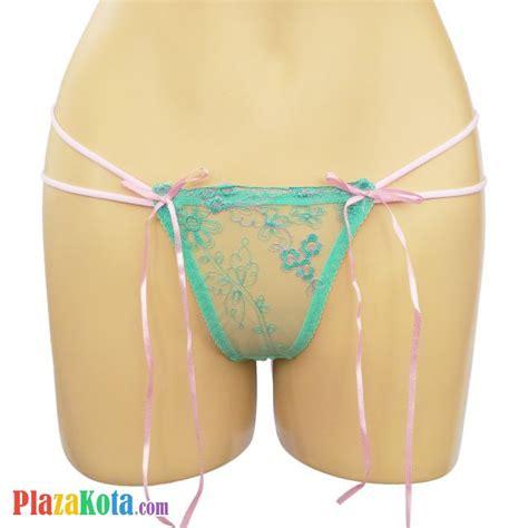 P303 Celana Dalam Boyshort Transparan Bordir Bunga jual gs092 celana dalam wanita hijau transparan pita pink plazakota